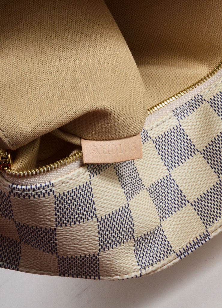 "Louis Vuitton Cream and Blue Coated Canvas Checkered ""Damier Azur Soffi""  Bag Date Code"
