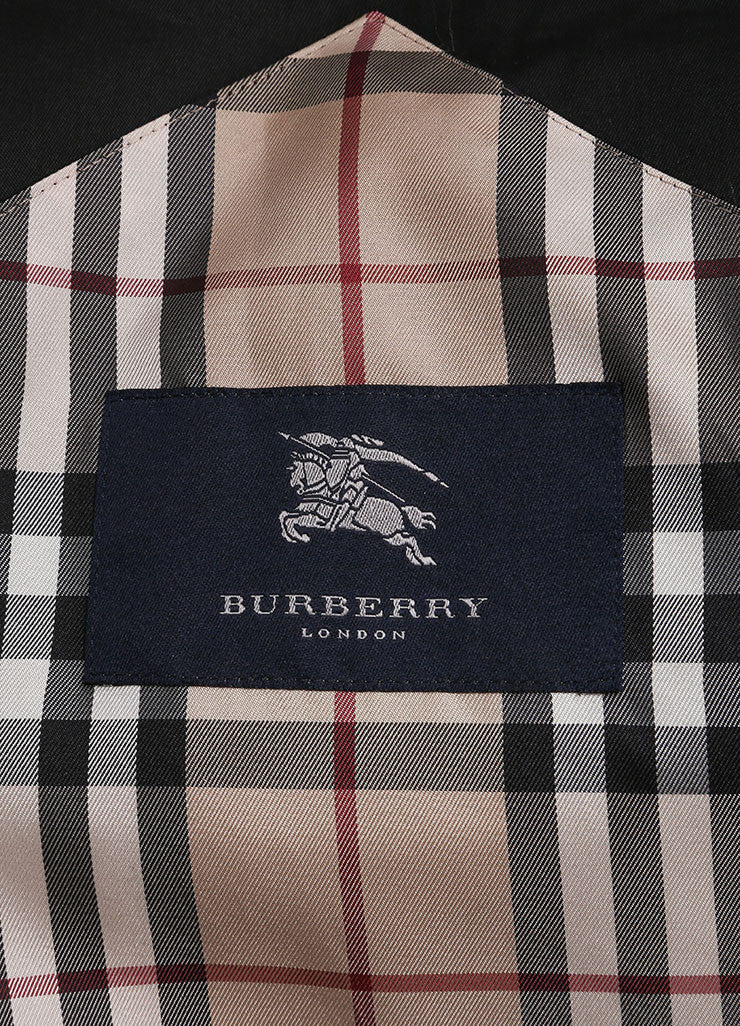 Burberry Black Long Lightweight Cotton Trench Coat  Brand