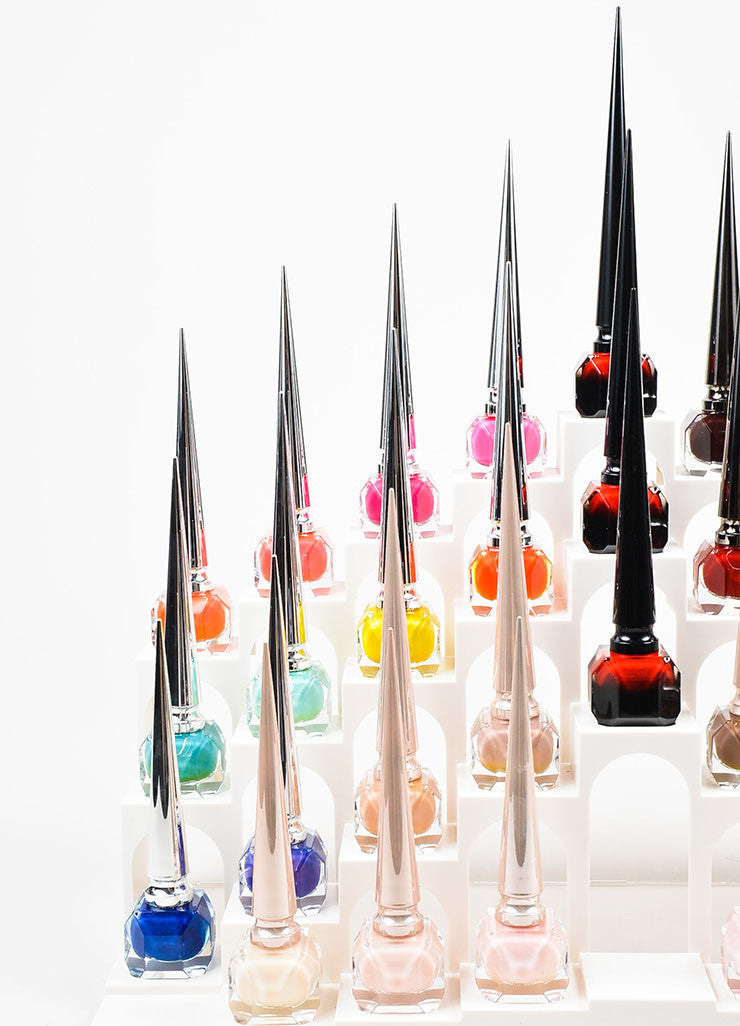 "Christian Louboutin ""Nail Colour Collection I"" 33 Piece Polish Set and Display Detail"