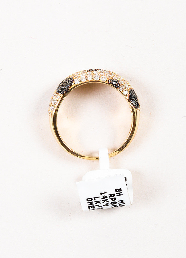 Effy 14K Yellow Gold Black Diamond Spotted Animal Print Ring topview