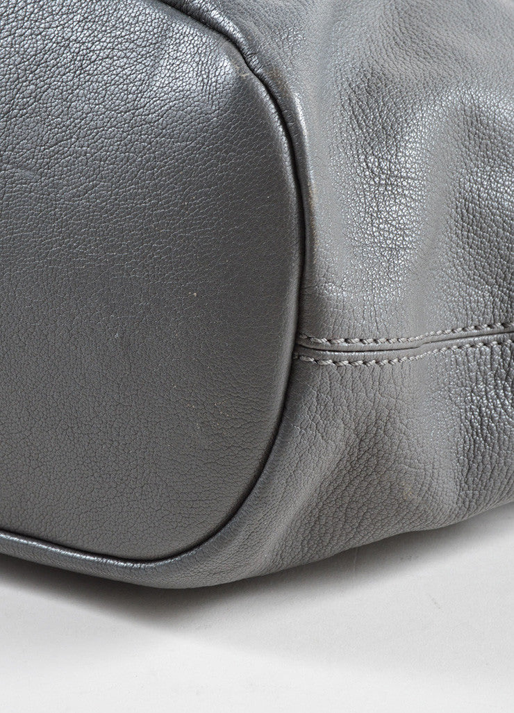 "Givenchy Grey Leather Paneled Large Carryall ""Nightingale"" Tote Bag Detail"