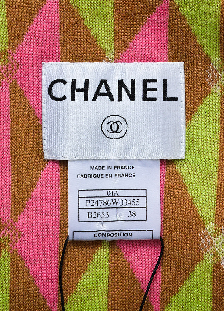 Chanel Tan and Multicolor Tweed Ribbon Knit Flower Jacket Brand