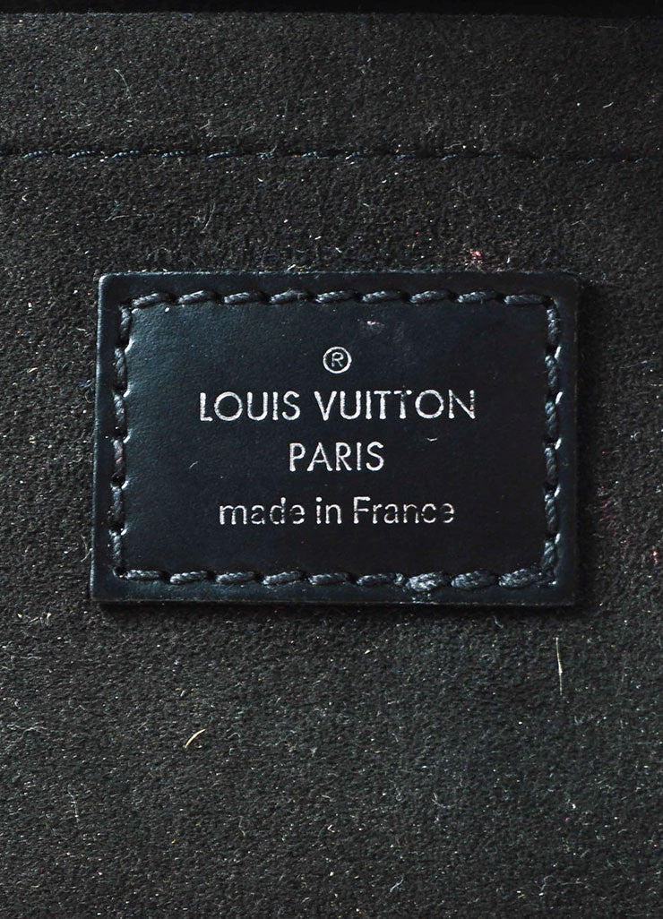 "Louis Vuitton Black Epi Leather Removable Buckle Strap ""Montaigne Pochette"" Bag Brand"
