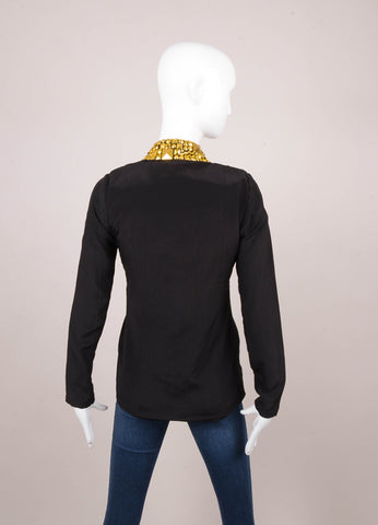 Black and Gold Atelier Studded Jacket