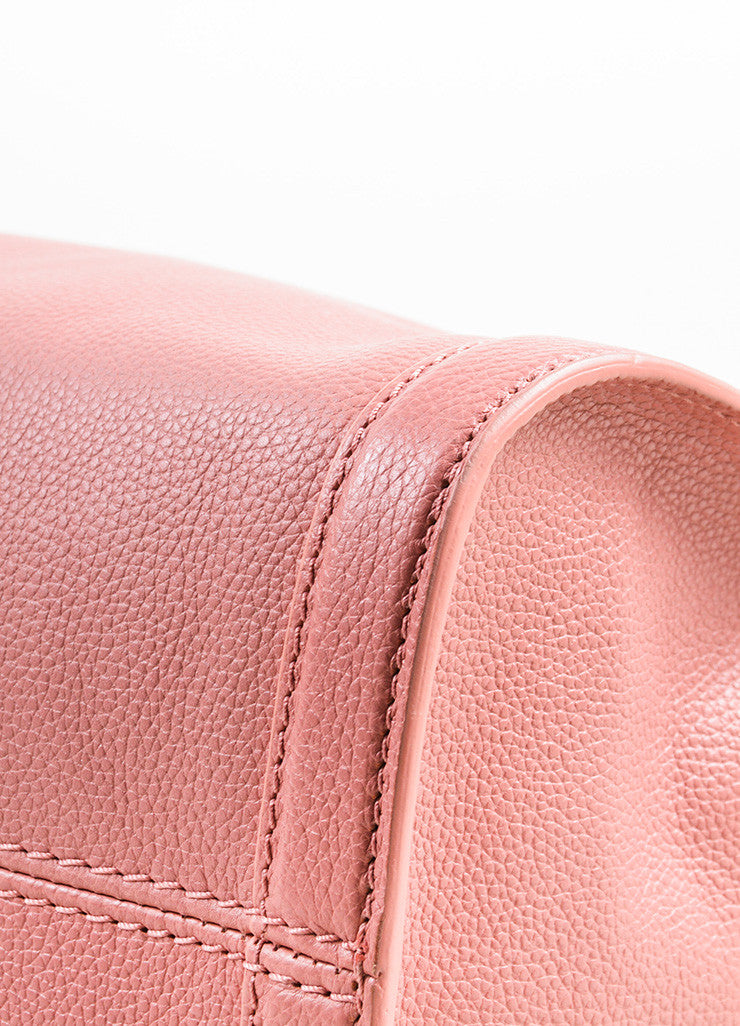 Pink Alexander McQueen Grained Leather Small Padlock Satchel Bag Detail 2