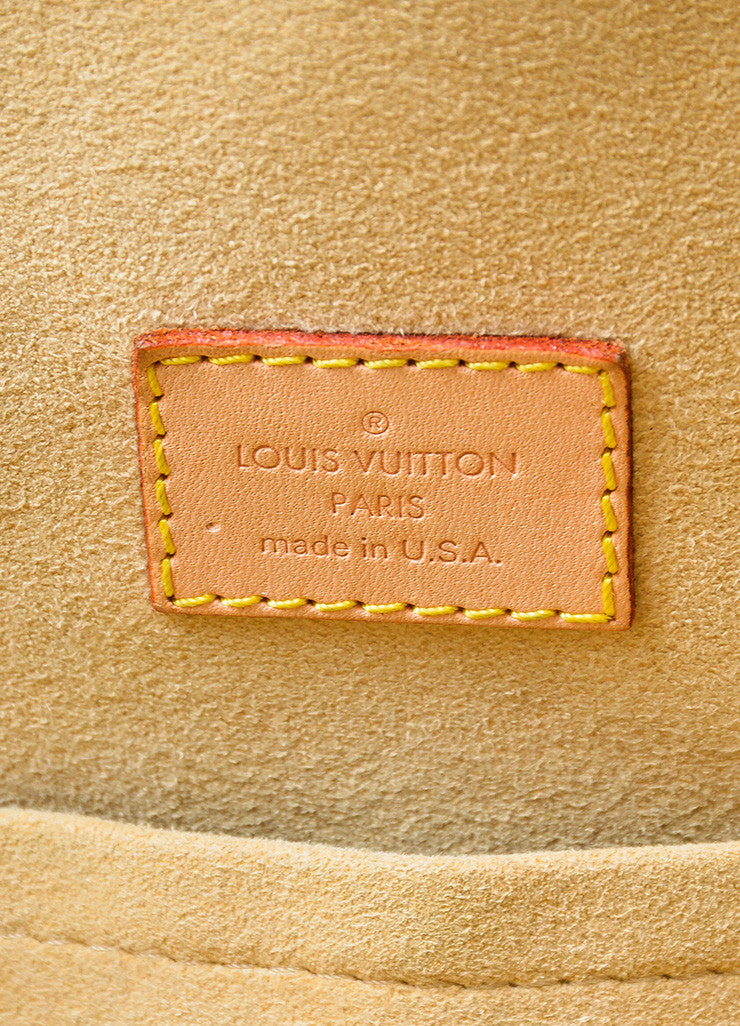 "Brown and Tan Louis Vuitton Canvas and Leather LV Monogram ""Manhattan GM"" Statement Bag Brand"