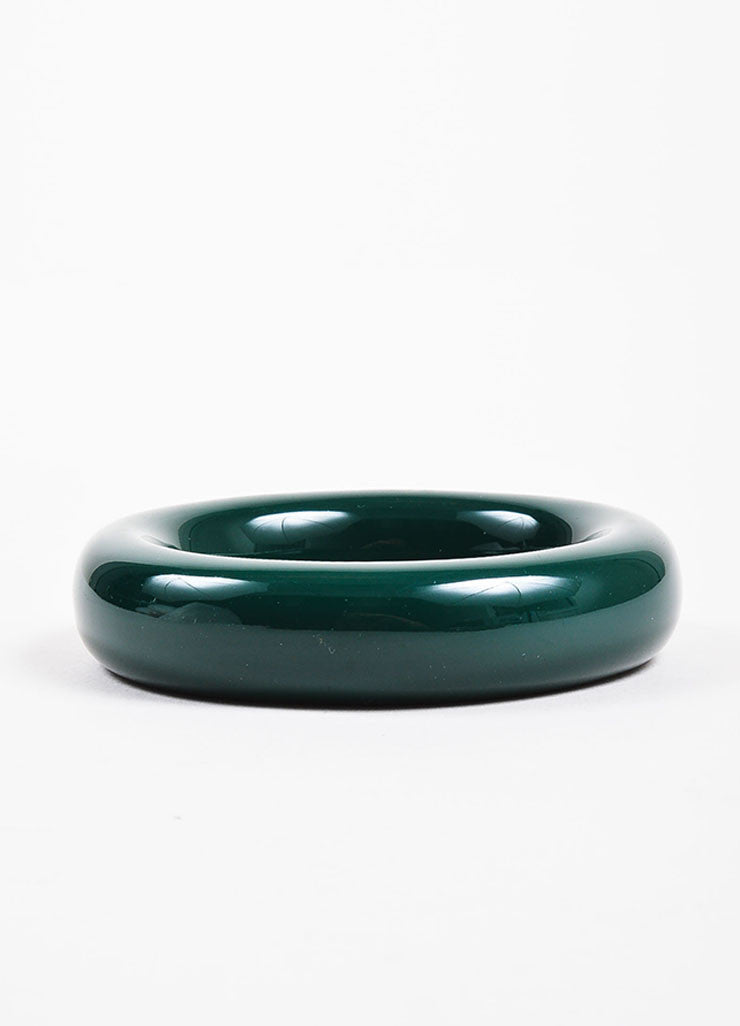 "Tiffany & Co. Elsa Peretti Green Lacquered Japanese Hardwood ""Doughnut"" Bangle Backview"