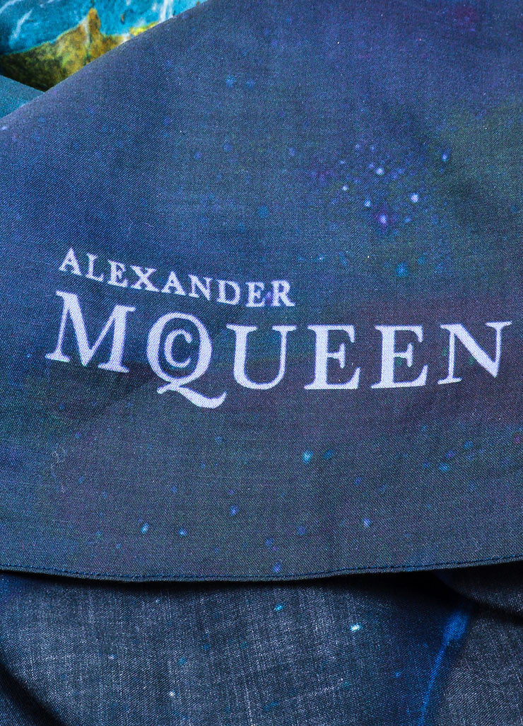 "Multicolor Alexander McQueen 2009 ""Good Planet"" Charity Scarf Brand"