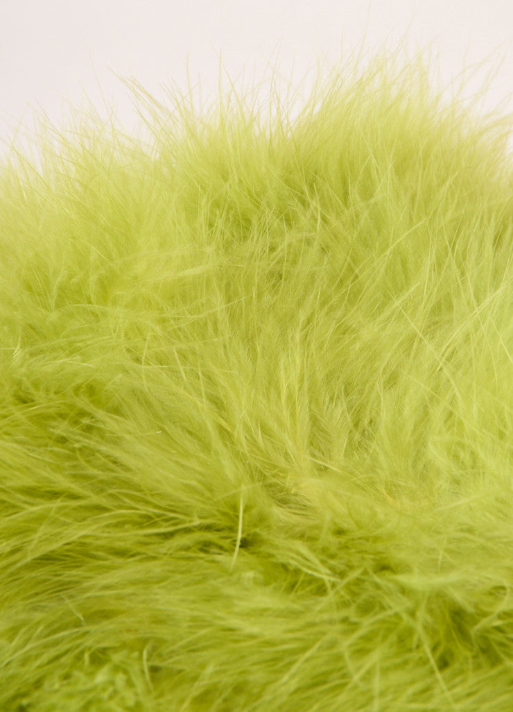 Vintage Green Marabou Feather Boa Scarf Detail