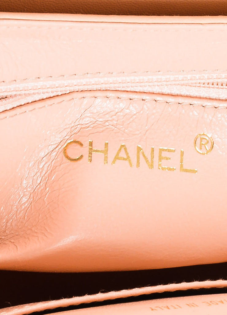 Pink Chanel Leather 'CC' Stand Handle Structured Bag Brand