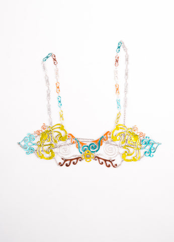 Jean Paul Gaultier Multicolor Enameled Filigree Body Chain Frontview