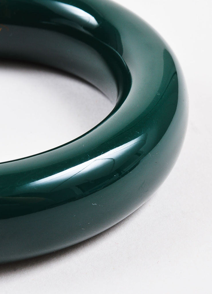 "Tiffany & Co. Elsa Peretti Green Lacquered Japanese Hardwood ""Doughnut"" Bangle Detail"