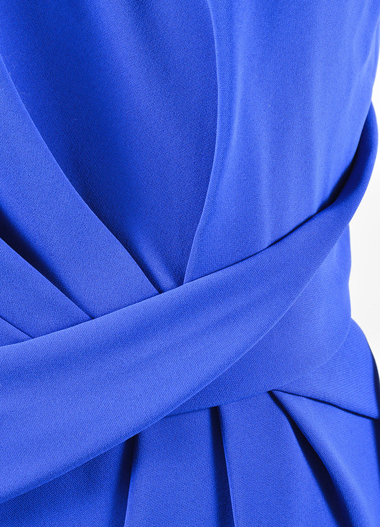 Alexander Wang Sapphire Blue Black Racerback Drape Dress Detail