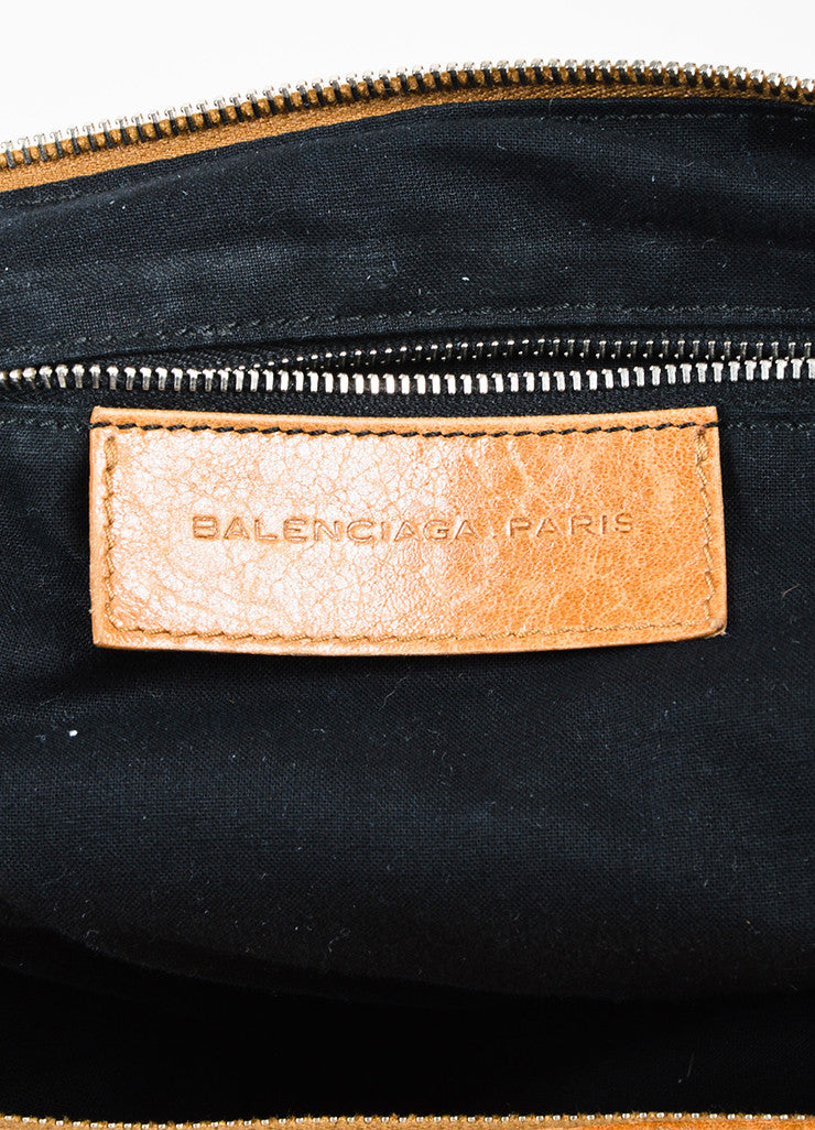 "Balenciaga Tan Pony Hair Leather Trim ""Classic Day"" Hobo Bag Brand"