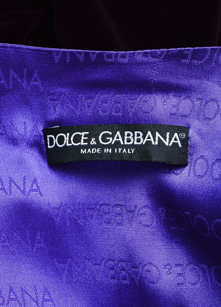 Dolce & Gabbana Purple Velvet 3 Piece Long Sleeve Jacket Vest Pants Suit Brand 2