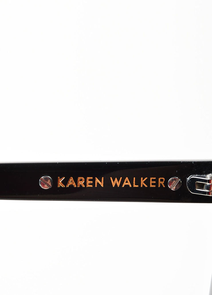 "Karen Walker Black ""One Worship"" Oversized Sunglasses Brand"