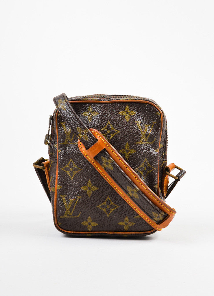 Louis Vuitton Monogram Canvas Crossbody Shoulder Bag Frontview