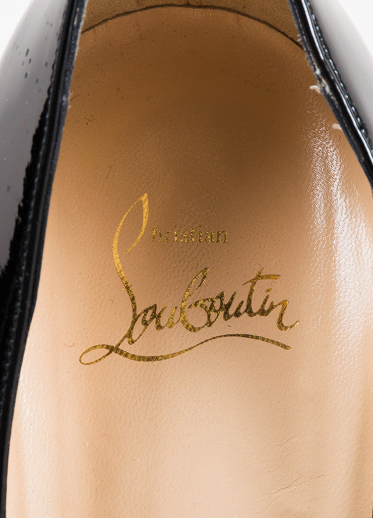 "Black Christian Louboutin Patent Leather ""Relika 140"" Mary Jane Pumps Brand"