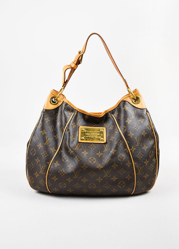 "Louis Vuitton Monogram Canvas ""Galleria PM"" Shoulder Bag Frontview"
