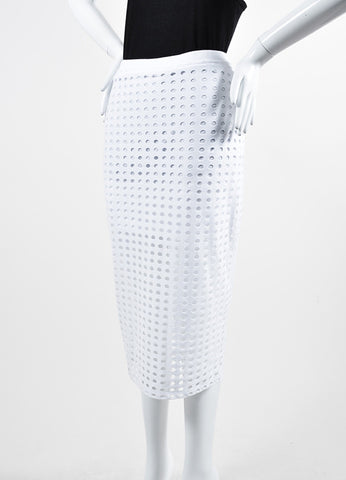 White T By Alexander Wang Cut Out Stretch Midi Pencil Skirt Sideview