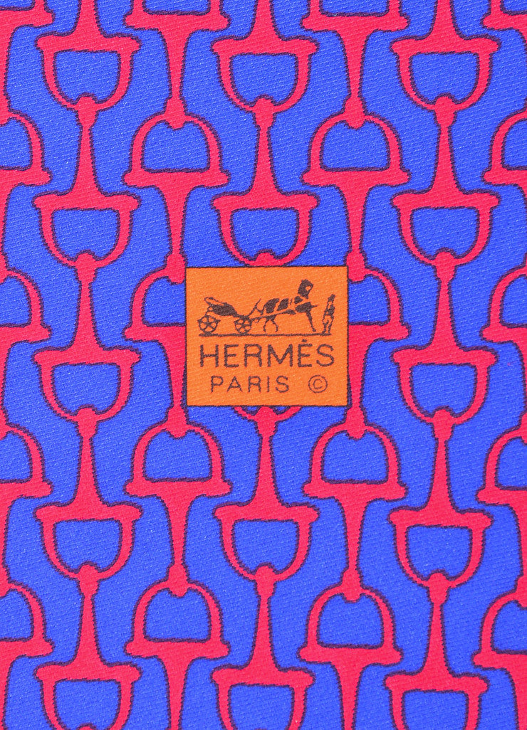"Multicolor Hermes Silk Twill Chain Floral Print ""Carre en Cravates"" Scarf Brand"