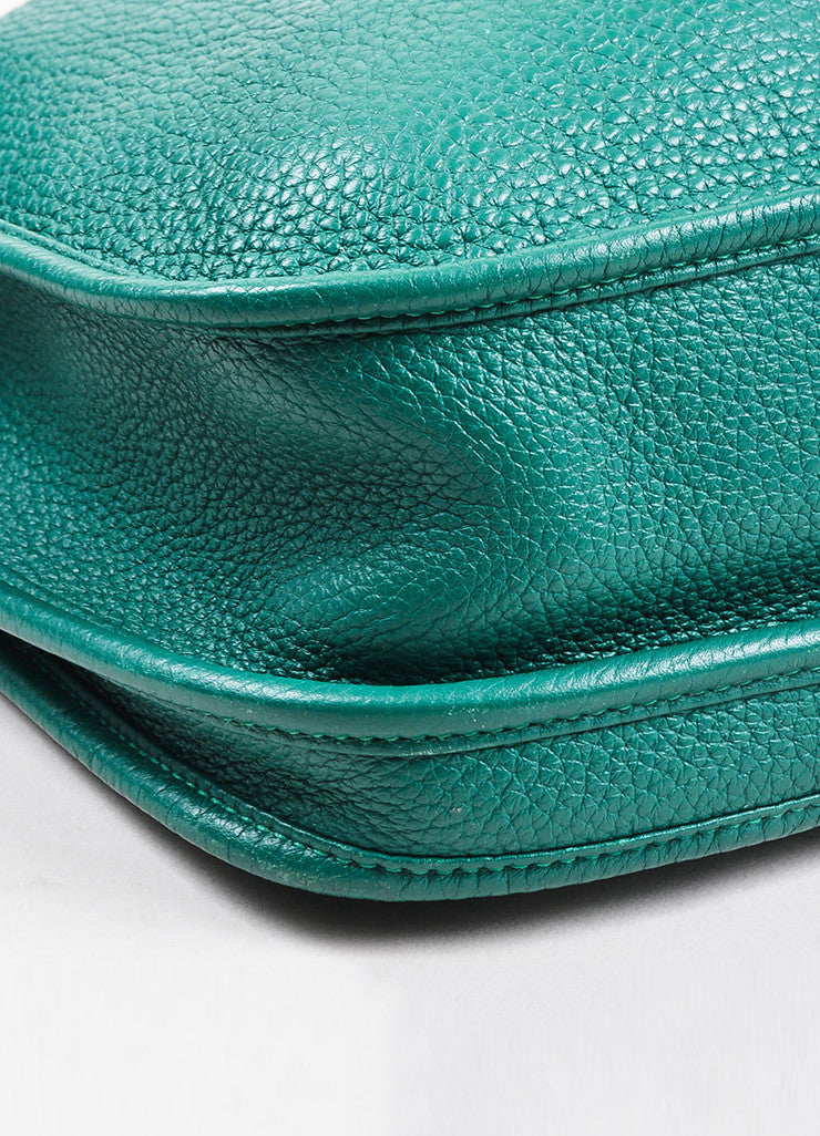 "Hermes Vert Clair Green Clemence Leather ""Evelyne III 29"" Shoulder Bag Detail 2"