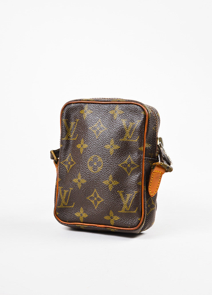 Louis Vuitton Monogram Canvas Crossbody Shoulder Bag Sideview