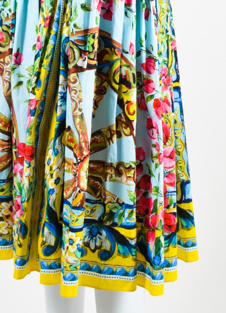 Dolce & Gabbana Multicolor Floral Sleeveless Dress Detail
