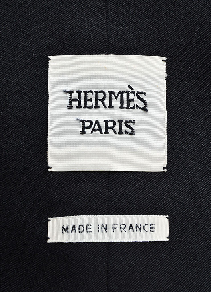 Hermes White and Black Pinstripe Tuxedo Vest Brand