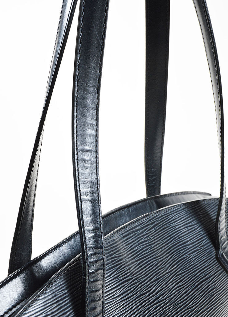 Black Louis Vuitton Epi Leather äóÁí_í?Saint JacquesäóÁ—? Trapeze Tote Bag Detail 2