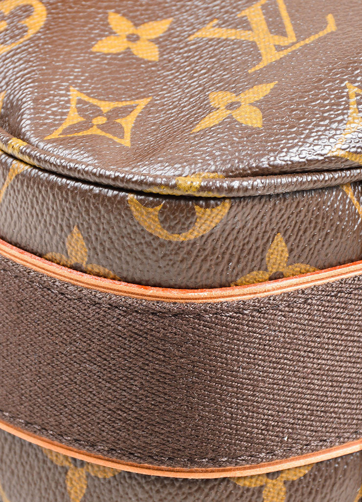 "Brown and Tan Louis Vuitton Monogram Coated Canvas ""Beaubourg GM"" Messenger Bag Detail"