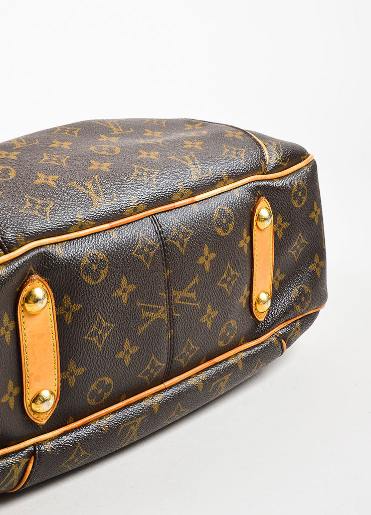 "Louis Vuitton Monogram Canvas ""Galleria PM"" Shoulder Bag Bottom View"