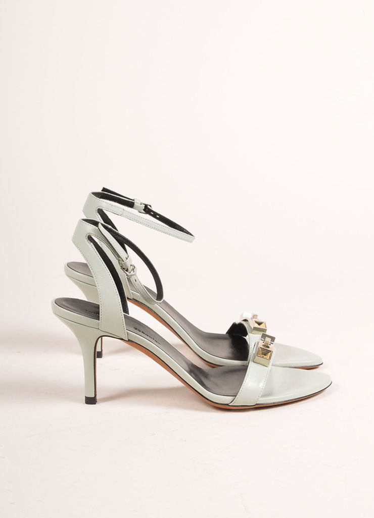Proenza Schouler New In Box 70mm Low Mint Green Ankle Strap Sandals Sideview