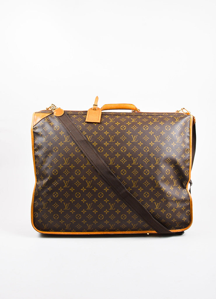 "Louis Vuitton Brown Monogram Canvas ""Garment Carrier Bag"" Frontview"