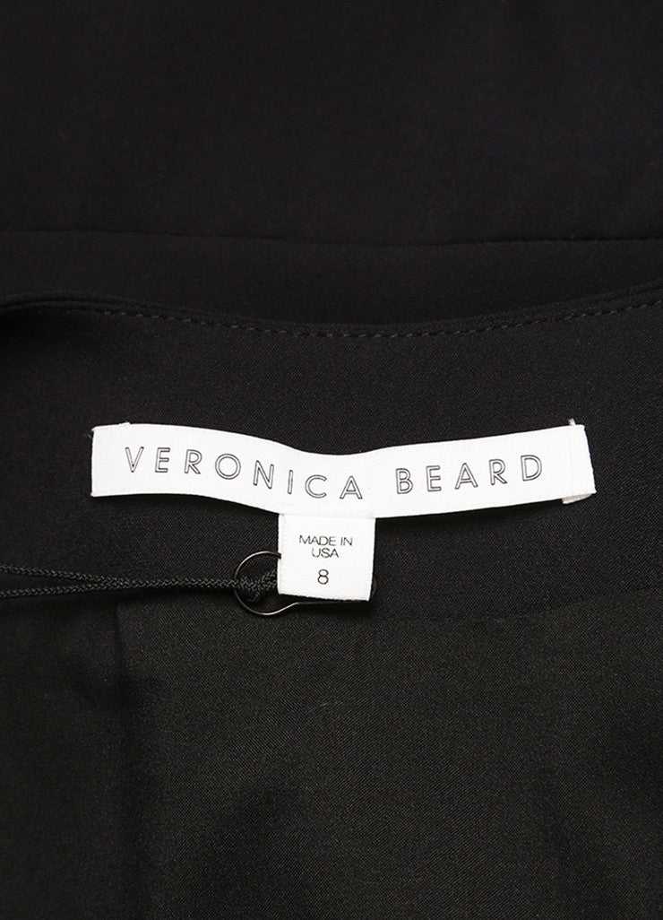 Veronica Beard New With Tags Black Nylon Scuba Zip Front Sleeveless Dress Brand