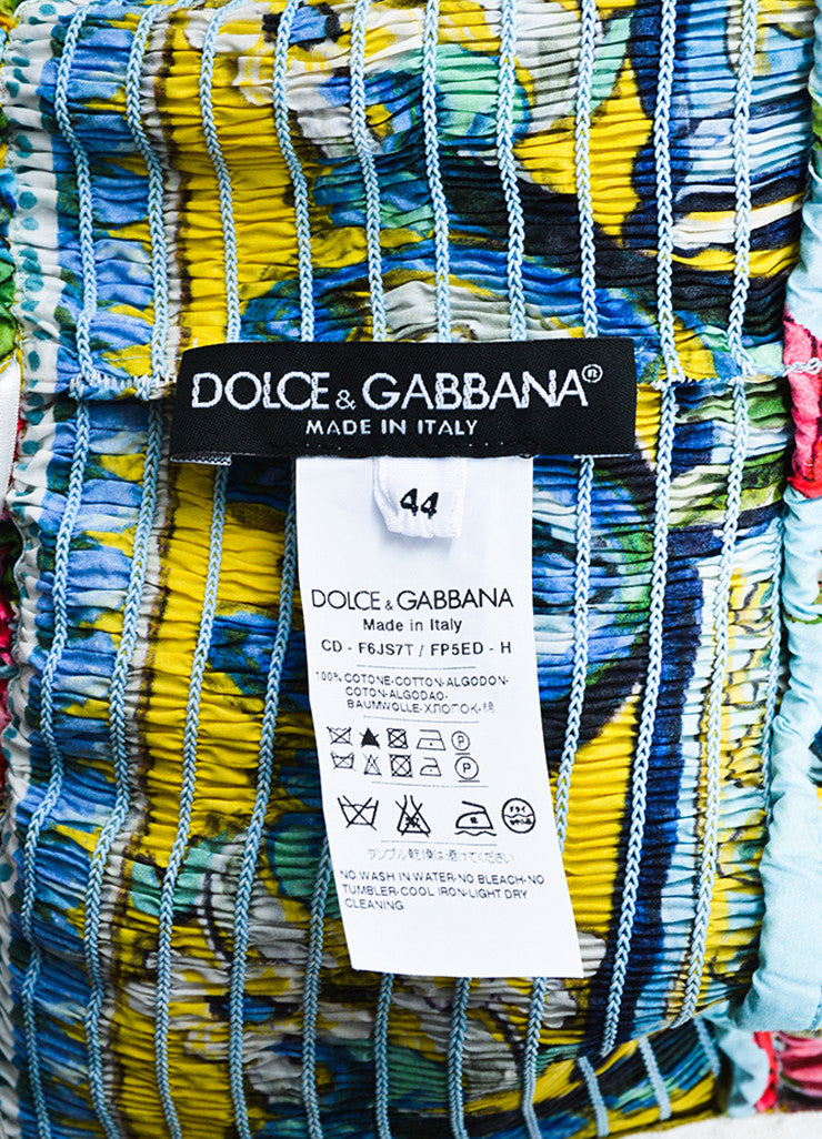 Dolce & Gabbana Multicolor Floral Sleeveless Dress Brand