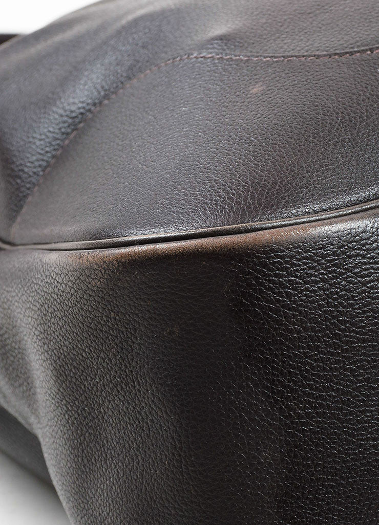 "Hermes Brown Swift Leather ""Trim II 38cm"" Hobo Bag Detail"