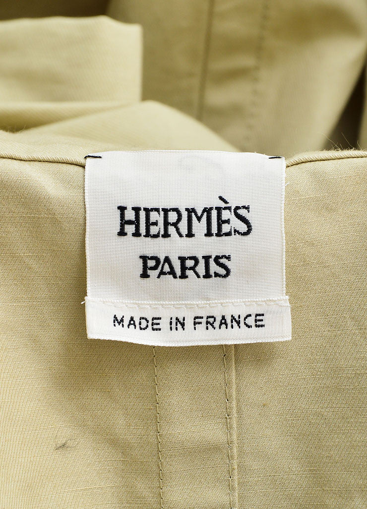 Hermes Tan Khaki Belted Trench Coat Brand