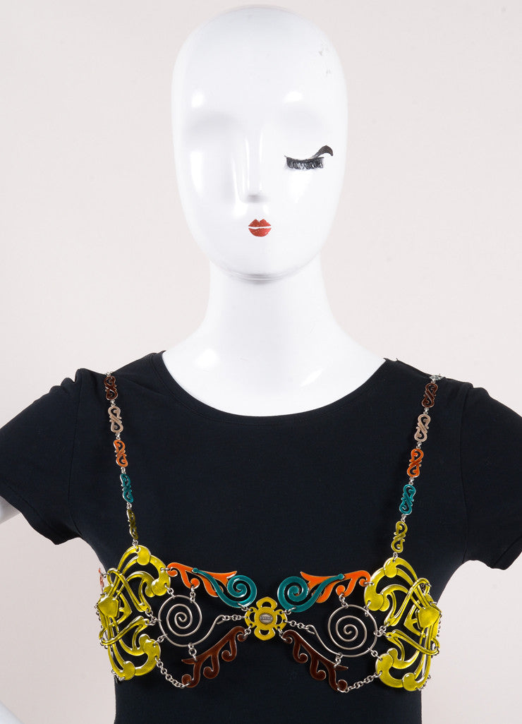 Jean Paul Gaultier Multicolor Enameled Filigree Body Chain Frontview 2