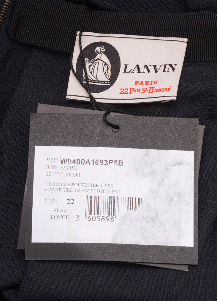 Lanvin Black Pleated Mini Skirt Brand