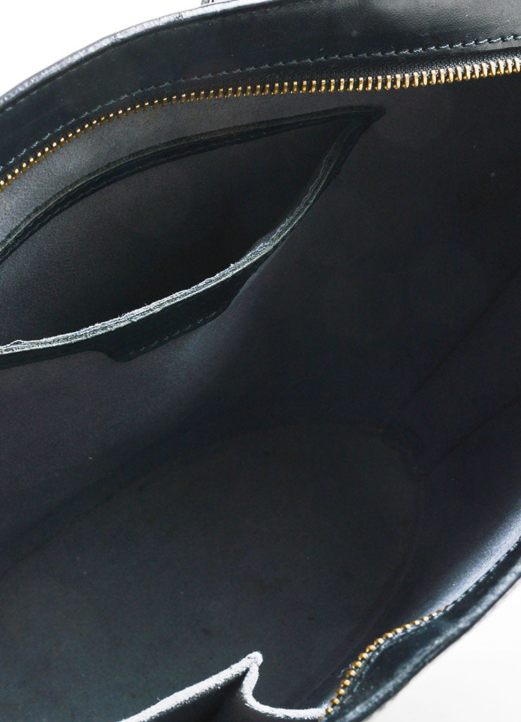 Black Louis Vuitton Epi Leather äóÁí_í?Saint JacquesäóÁ—? Trapeze Tote Bag Interior