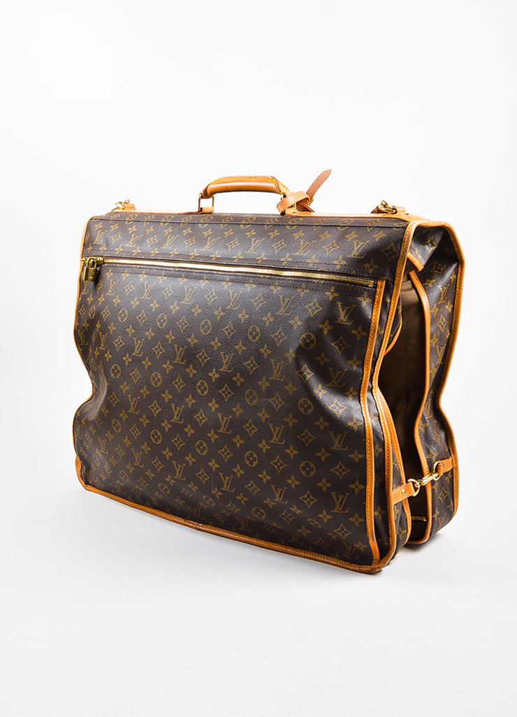 "Louis Vuitton Brown Monogram Canvas ""Garment Carrier Bag"" Sideview"