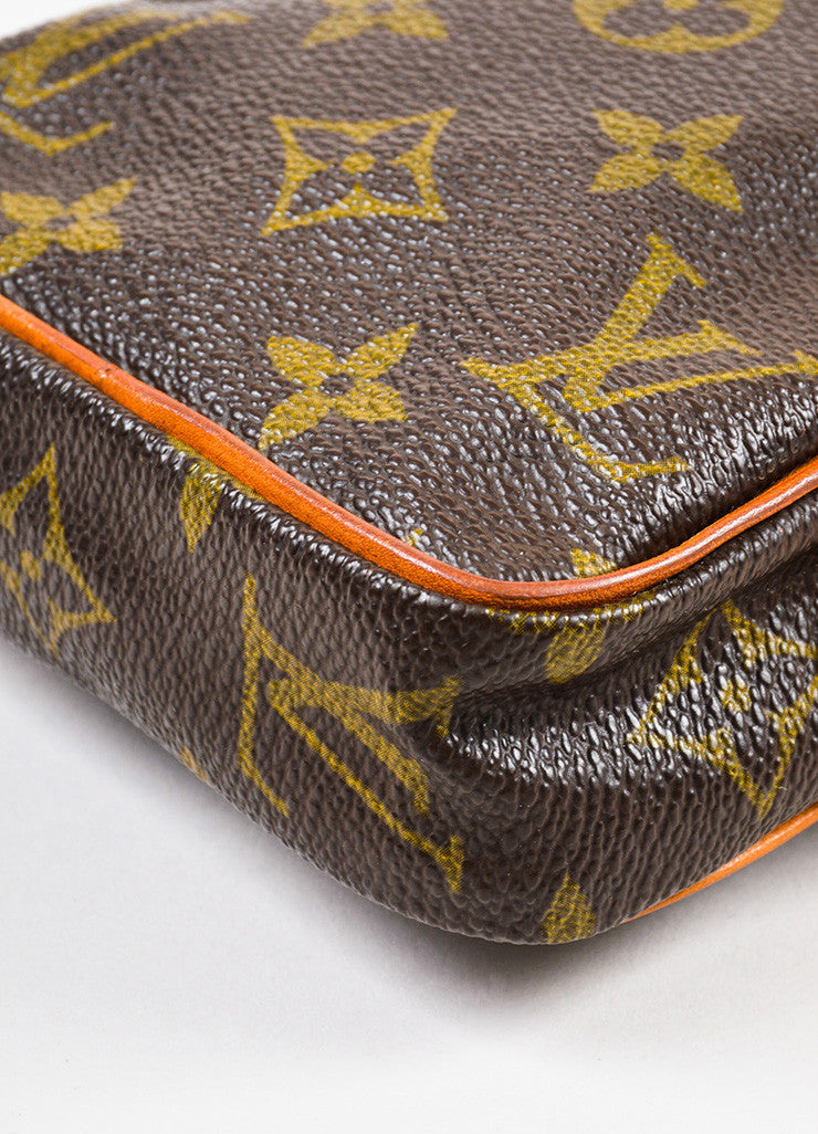 Louis Vuitton Monogram Canvas Crossbody Shoulder Bag Detail