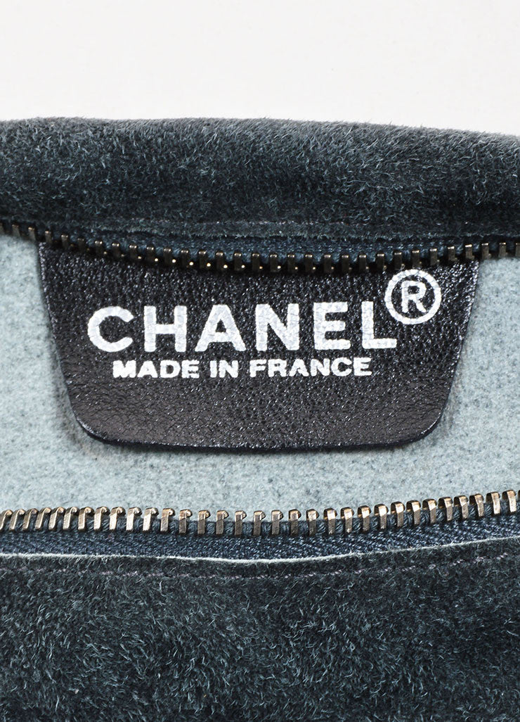 Chanel Black Suede Zipper Tie Belt Pouch Fanny Pack Brand