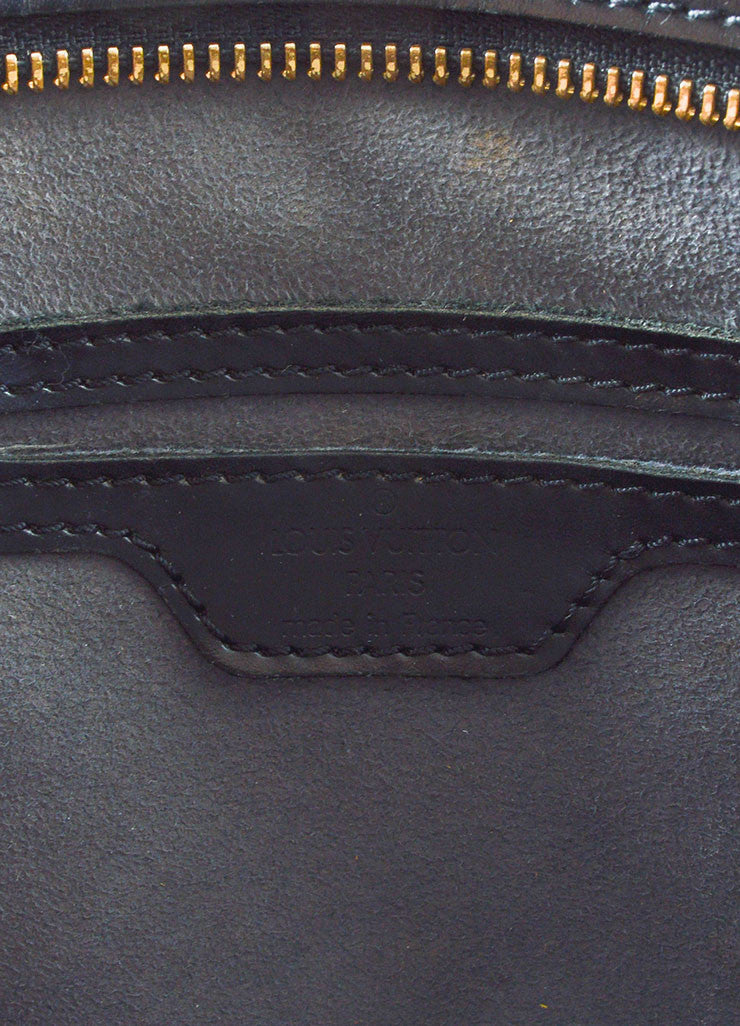 Black Louis Vuitton Epi Leather äóÁí_í?Saint JacquesäóÁ—? Trapeze Tote Bag Brand