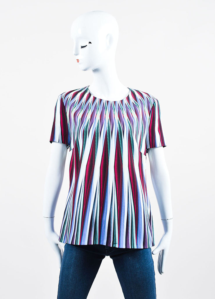Multicolor ¥éËPeter Pilotto Striped Relaxed Short Sleeve Top Frontview