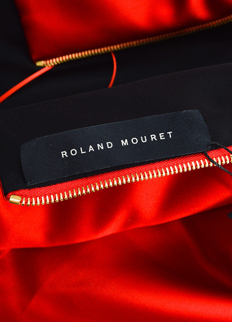 "Red Satin Roland Mouret ""Esther"" Cocktail Dress Brand"