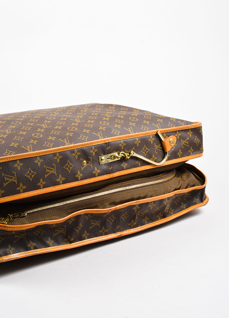 "Louis Vuitton Brown Monogram Canvas ""Garment Carrier Bag"" Bottom View"