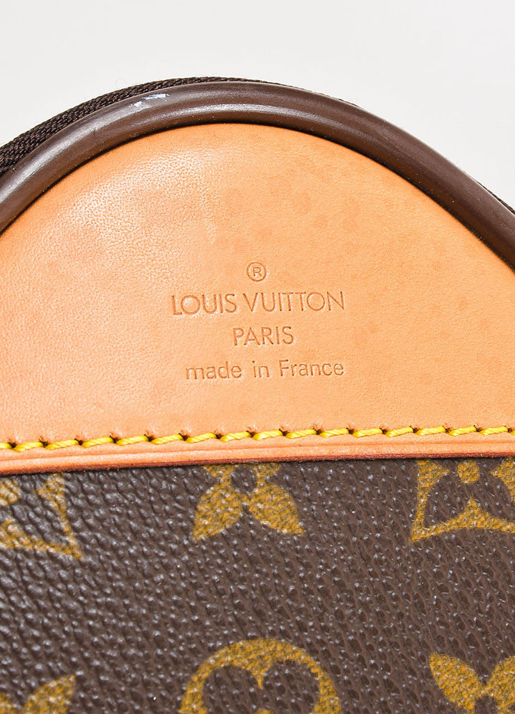 "Louis Vuitton Brown and Tan Coated Canvas Leather Trim ""Pegase 60"" Rolling Luggage Brand"
