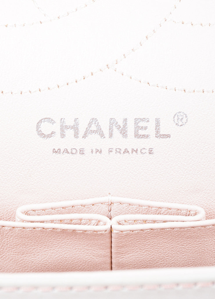 "Chanel Pink and White Leather Ombre Degrad̩ ""2.55 Reissue 227"" Jumbo Double Flap Bag Brand"